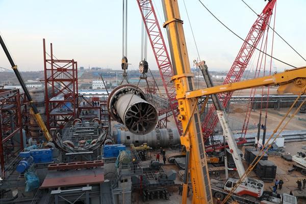 神木天元60万吨/年粉煤分质综合利用项目将近机械竣工