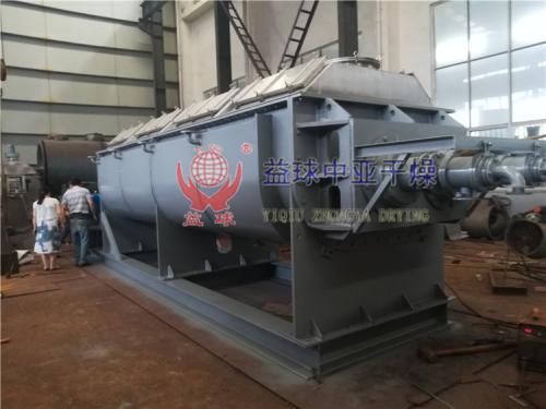 【益球中亞】客戶訂購的2臺空心漿葉干燥機正在生產制作中