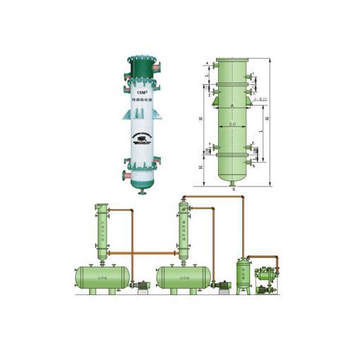 新安江PSGX石墨改性聚丙烯列管式降膜吸收器 气体回收耐腐蚀吸收器
