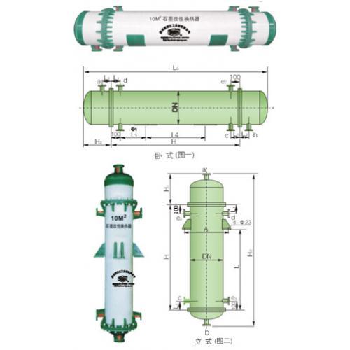 新安江PSGH石墨改性聚丙烯列管式换热器 耐腐蚀管板管壳式换热器
