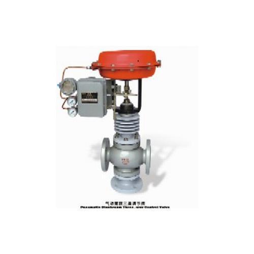 气动轻小型三通调节阀-调节阀规格-调节阀(ksb)图片