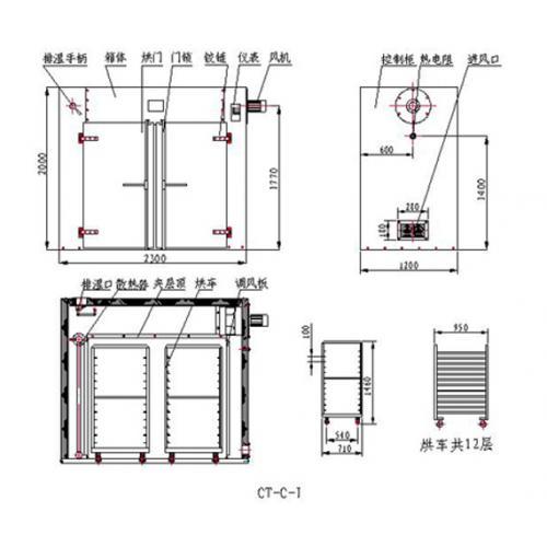 食品专用CT系列热风循环烘箱