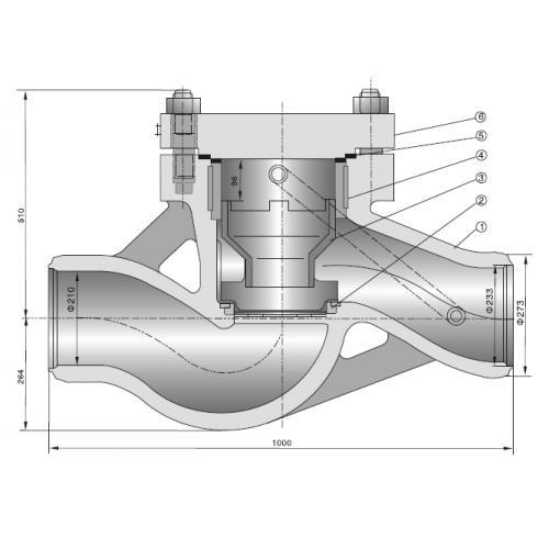 高温高压焊接升降式止回阀(h61y-320i)图片