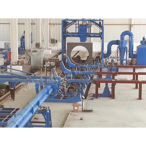 管道内喷环氧粉末、外淋涂聚乙烯防腐生产线