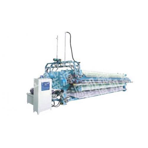 侧梁式1500型隔膜水洗滤布压滤机