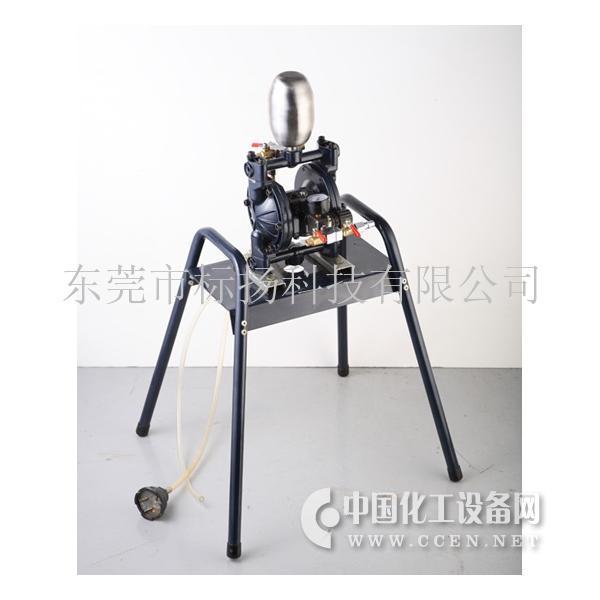 气动双隔膜泵带支架图片